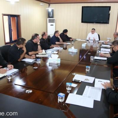إجتماع مجلس الكهنة الشهري مع راعي الأيبارشية