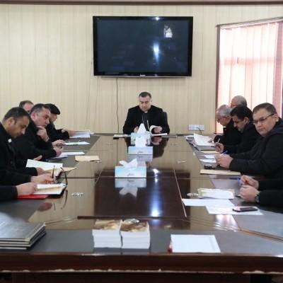 إجتماع الكهنة الشهري مع راعي الإيبارشية